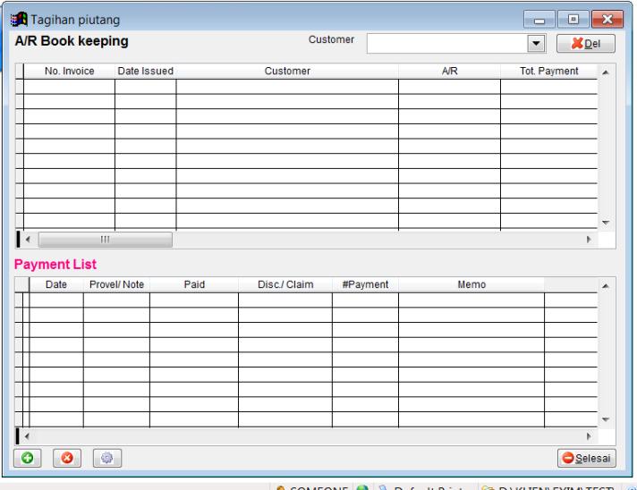 Contoh form isian transaksi pengelolaan tagihan/ piutang